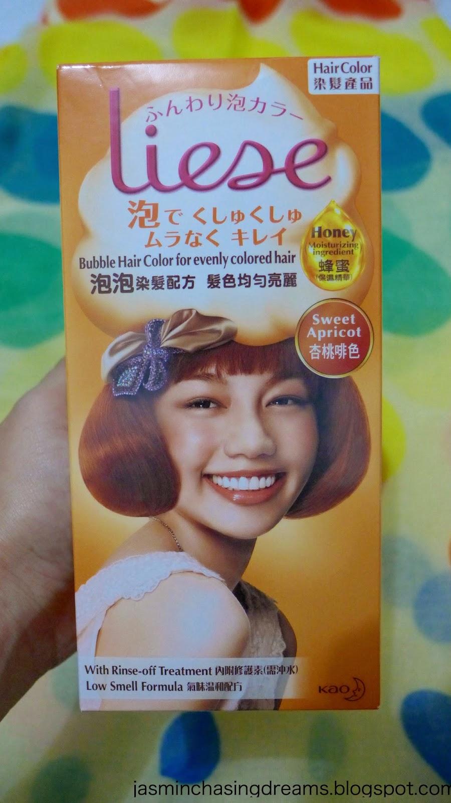 Review Liese Bubble Hair Color Sweet Apricot